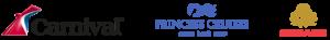 Carnival, Cunard and Princess Cruises logos